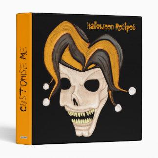Cráneo malvado del bufón (naranja) Halloween