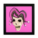 Cráneo malvado del bufón (rosa) cajas de regalo
