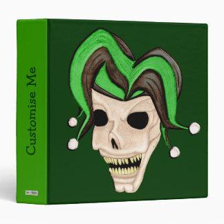 Cráneo malvado del bufón (verde)