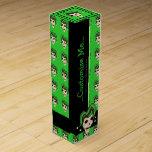Cráneo malvado del bufón (verde) cajas de vino
