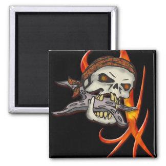 Cráneo malvado del pirata imán para frigorífico