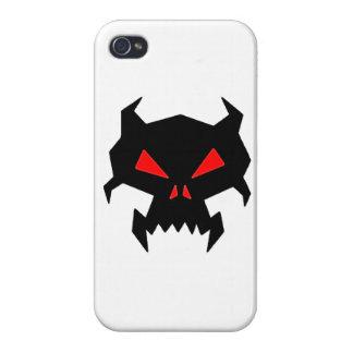 Cráneo malvado iPhone 4/4S carcasas