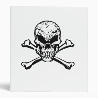 Cráneo malvado y bandera pirata