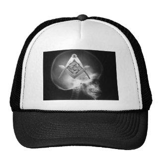 Cráneo masónico del extranjero de la radiografía gorra