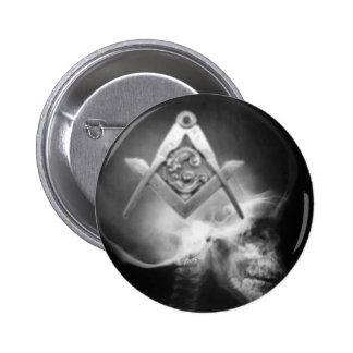 Cráneo masónico del extranjero de la radiografía pin redondo de 2 pulgadas