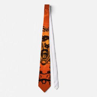 Cráneo mecánico asombroso corbata personalizada