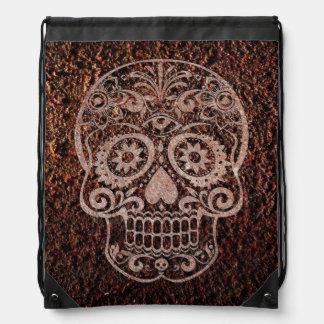 Cráneo metal oxidado 04 mochila