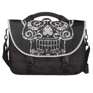 Cráneo metal plateado negro 04 bolsas para portatil