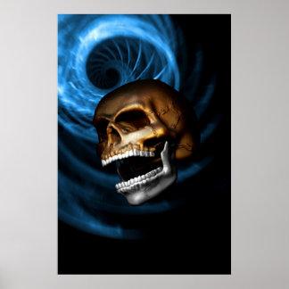 Cráneo-Metálico Poster