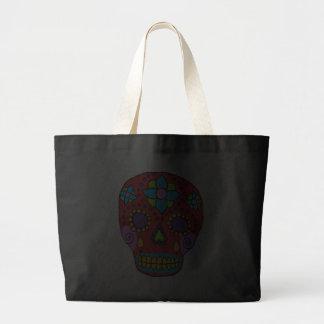 Cráneo mexicano del azúcar del arte popular bolsa tela grande