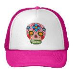 Cráneo mexicano del azúcar del arte popular gorra