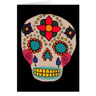 Cráneo mexicano del azúcar del arte popular tarjetas