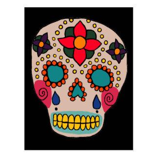Cráneo mexicano del azúcar del arte popular postales
