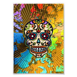 Cráneo mexicano del azúcar, día de los muertos fotografía