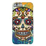 Cráneo mexicano del azúcar, día de los muertos funda de iPhone 6 barely there