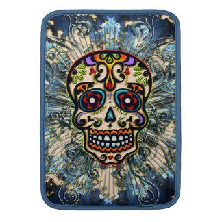 Cráneo mexicano del azúcar, día de los muertos, funda macbook air