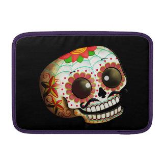 Cráneo mexicano del azúcar funda macbook air
