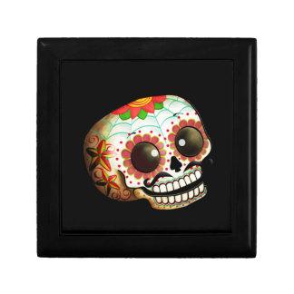 Cráneo mexicano del azúcar cajas de regalo
