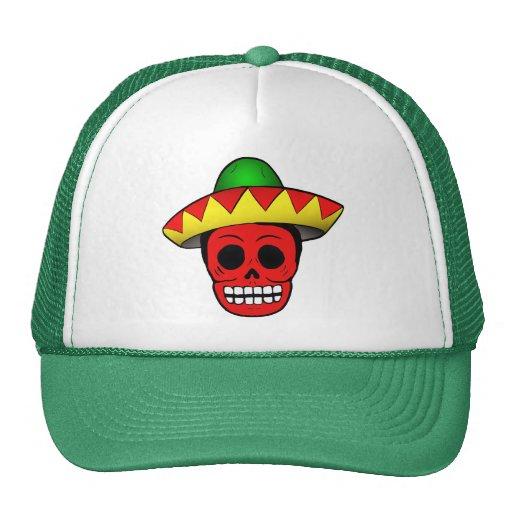 Cráneo mexicano gorros bordados