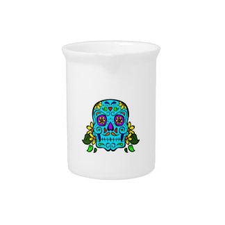 cráneo mexicano jarras para bebida