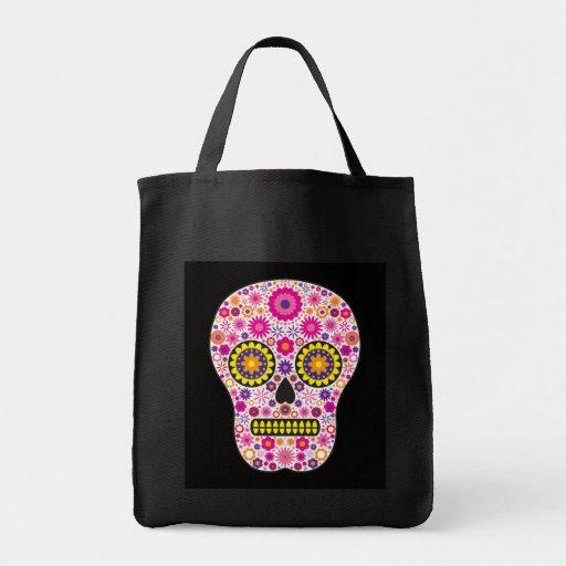 Cráneo mexicano rosado del azúcar bolsa