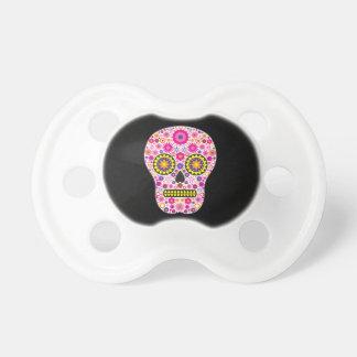 Cráneo mexicano rosado del azúcar chupete de bebé