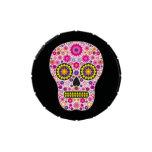 Cráneo mexicano rosado del azúcar jarrones de dulces