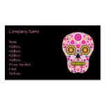 Cráneo mexicano rosado del azúcar tarjeta personal