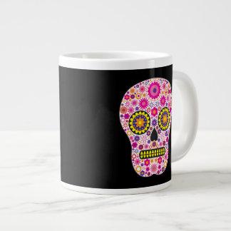 Cráneo mexicano rosado del azúcar taza grande