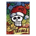 Cráneo mexicano Santa del azúcar de Feliz Navidad Tarjeta De Felicitación