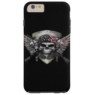 Cráneo militar con la guerra cruzada del Special Funda De iPhone 6 Plus Tough
