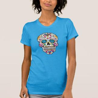 Cráneo moderno colorido de moda, camiseta de las s