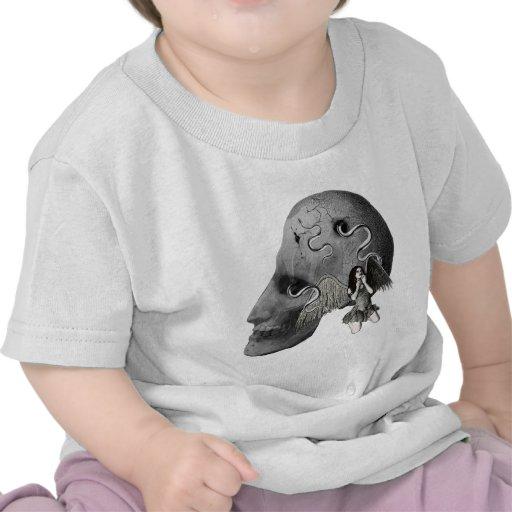 Cráneo mortal camiseta