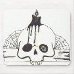 Cráneo Mousepad de la vela Tapetes De Raton