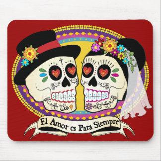 Cráneo Mousepad del azúcar del Los Novios (español Alfombrilla De Raton