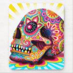 Cráneo Mousepad - día del azúcar del arte muerto Tapetes De Ratón
