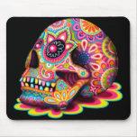 Cráneo Mousepad - día del azúcar del arte muerto Alfombrilla De Ratón