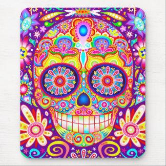 Cráneo Mousepad - día del azúcar del arte muerto Tapetes De Raton