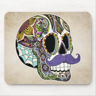 Cráneo Mousepad - estilo del azúcar del bigote del Alfombrillas De Raton