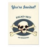 Cráneo muerto del pirata del sistema invitación 12,7 x 17,8 cm