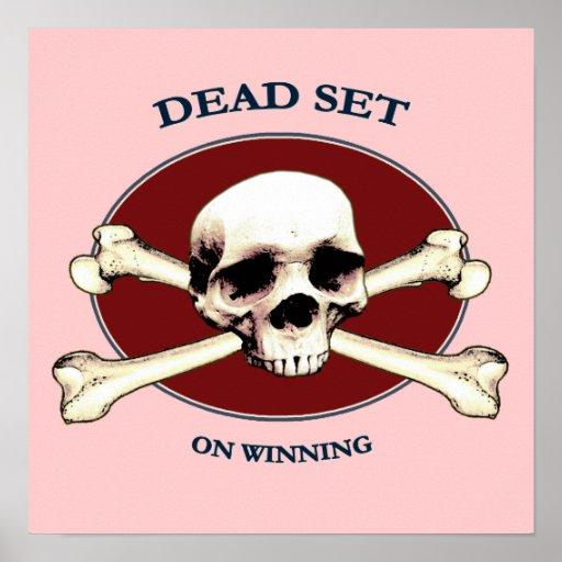 Cráneo muerto del pirata del sistema poster