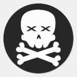 Cráneo muerto pegatinas redondas