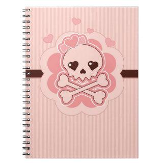 Cráneo muy lindo del amor note book