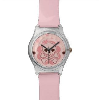 Cráneo muy lindo del amor relojes de pulsera