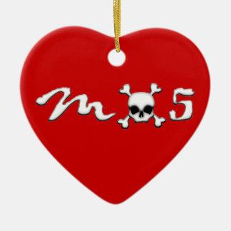Cráneo MX5 Adorno De Cerámica En Forma De Corazón