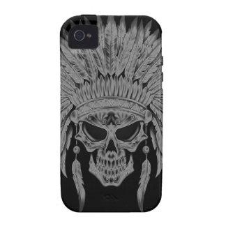 Cráneo nativo oscuro iPhone 4/4S carcasas