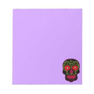 Cráneo negro adaptable del azúcar blocs de notas