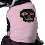 Cráneo negro adaptable del azúcar camisa de perro