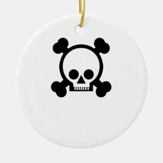 Cráneo negro/blanco ornamento de navidad