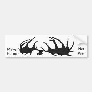 Cráneo negro de Megaloceros - haga la guerra de lo Etiqueta De Parachoque